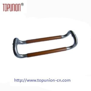 Elegant Design Stainless Steel 304 Tube Wooden Pull Handle (JPWPH005) pictures & photos