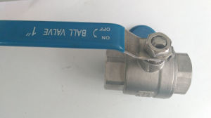 1000psi 2PCS Stainless Steel Ball Valve with Thread End pictures & photos