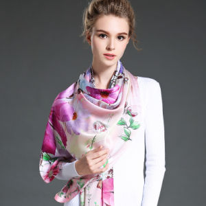Digital Printing Long Silk Scarf for Women Girls pictures & photos