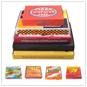 Locking Corners Pizza Box for Stability and Durability (CCB025) pictures & photos