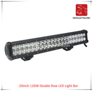 LED Car Light 20inch 126W Double Row LED Light Bar Waterproof for SUV Car LED off Road Light and LED Driving Light pictures & photos