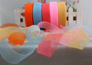 High Quality Nylon Organza Ribbon for Festival pictures & photos