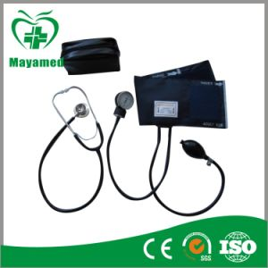 My-G019 Aneroid Sphygmomanometer with Dual Head Stethoscope pictures & photos