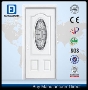 Exterior Prehung Steel Tempered and Decorative Glass Door pictures & photos