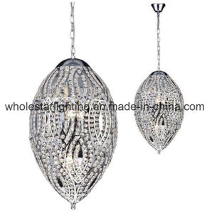 Steel Lacer Cutting Chandelier with Crystal Beads (WHG-339) pictures & photos
