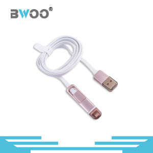 High Quality 2 in 1 Data USB Cable for Mobile Phone pictures & photos