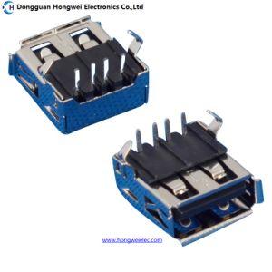 Female DIP Plastic Core Bending Feet USB 2.0 Connector pictures & photos