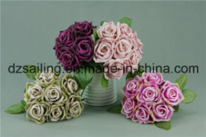 Widely Used Rose Bouquet Artificial Flower (SF12504/7) pictures & photos
