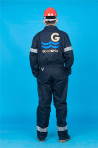 65% Polyester 35%Cotton Long Sleeve Safety High Quality Cheap Coverall (BLY1020) pictures & photos
