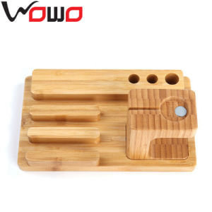 2015 Hot Selling for Apple Watch Charging Stand, for Apple Watch Stand Wood, 3 in 1 Stand Holder for iPhone