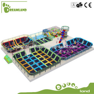 Large Indoor Elastic Bed in Trampoline for Kids pictures & photos