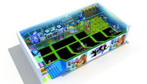 Kaiqi Professional Indoor Trampoline Park Playground for Children or Adult (TR198A) pictures & photos