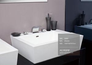 Acrylic Solid Surface Unique Design Bathroom Sink pictures & photos