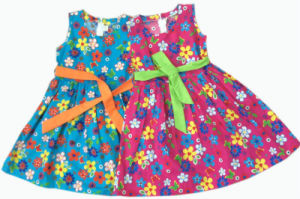Summer Girl Cute Dress in Children Clothes (SQD-102)