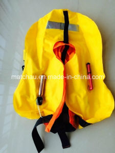 Marine Solas Single Air Chamber Inflatable Life Jacket pictures & photos