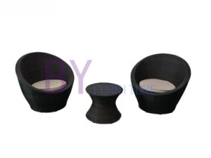 Plastic Board Polyester Cushion Rattan Best Sofa Set pictures & photos