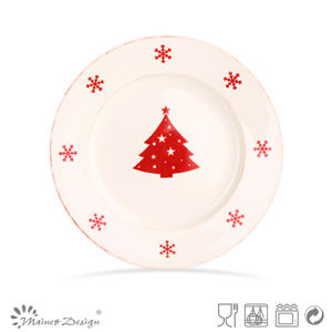 "7.5"" Stamp Ceramic Christmas Design Plate pictures & photos"