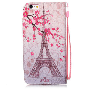 PU Leather Case Wallet Filp Cover for iPhone6 6s Colored Drawing pictures & photos