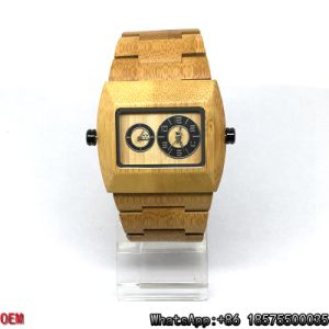 Top-Quality Maple-Wooden Watches Double Movement Quartz Watches Hl14 pictures & photos