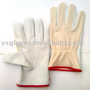 Driver Glove-Leather Driver Glove-Safety Glove-Working Leather Gloves pictures & photos