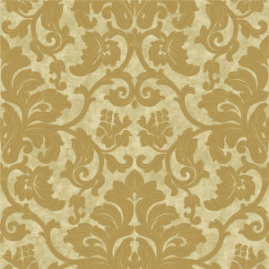 High Grade Golden PVC Vinyl Wallpaper with Deep Embossed pictures & photos