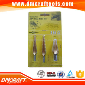 HSS Tin-Coated Step Drill Bits 3PCS Set pictures & photos
