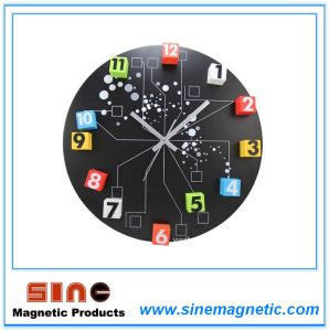Creative Magnetic Wall Clock with Movable Figure pictures & photos