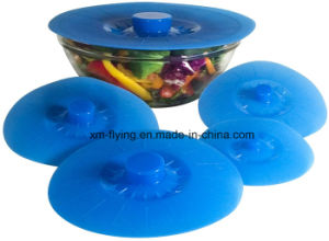 Reusable Microwave Safe Set of 5 Sizes Airtight Silicone Suction Lids, Silicone Kitchenware pictures & photos