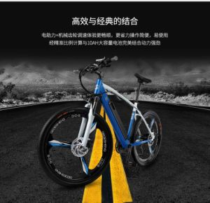 Ho Selling New Product 26inch 48V10 Ah Hot Selling Ce Approval Folding Electric Mountain Bicycle Bike with Full Shock Proof 27 Speed Ebike