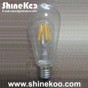 Glass St64 6W LED Filament Bulb (SUN-6WST64) pictures & photos
