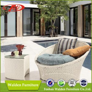 Wicker Sunbed, Rattan Round Sun Bed (DH-9630) pictures & photos