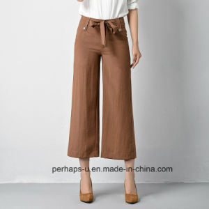 New Collection Ladies Palazzo Pants with Drawstring Decorating pictures & photos