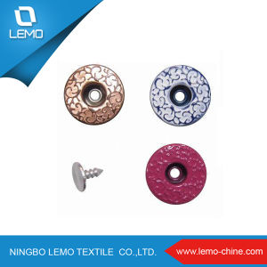 Direct Custom Sale Metal Shank Jeans Button for Jeans pictures & photos