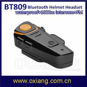 1000m Waterproof Motorcycle Helmet Bluetooth Intercom Headset FM Radio Bt Interphone pictures & photos