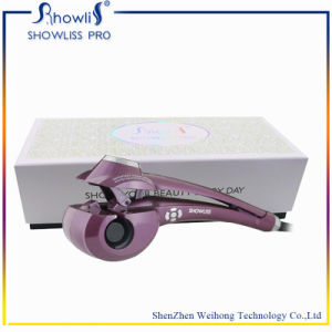 Black Hair Curl Newest OEM Styler Hair Salon Equipment with CE and RoHS Certification Tourmaline Material Showliss LCD Mag Showliss Curler Hair pictures & photos