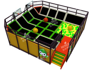 Kaiqi Large Indoor Trampoline Playground with Basketball, Ball Pool, Foam Pit or Dodgeball Arena (TR137A) pictures & photos