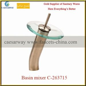 Sanitary Ware Bathroom Brass Waterfall Basin Mixer pictures & photos