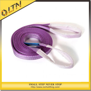 2ton Double Ply Polyester Flat Webbing Sling with Lifting Eyes pictures & photos