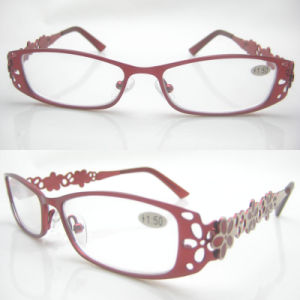 2015 Fashion Temples Designed Stainless Reading Glasses pictures & photos