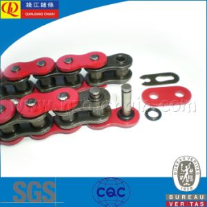 High Quality O-Ring Motorcycle Chain with Red Plates pictures & photos