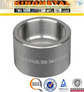 A105 Carbon Steel Pipe Fittings Threaded Half Coupling pictures & photos