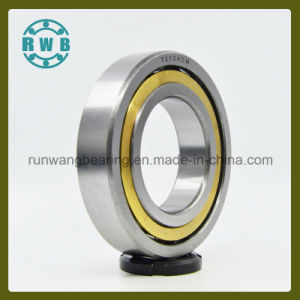 Copper Has a Cage Single Row Angular Contact Bearings, Factory Production (7212ACM)