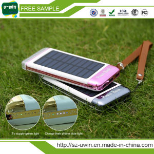 2017 New Solar Power Bank 10000mAh with Free Logo pictures & photos