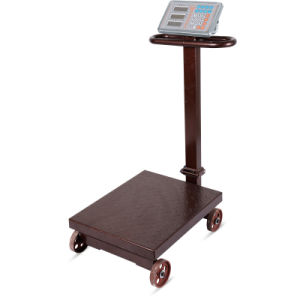 Electronic Digital Weighing Platform Scale with Wheel (DH-839) pictures & photos
