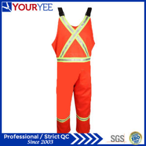 Orange Safety Protective Hi Vis Fr Bib Overall Pants (YBD119) pictures & photos