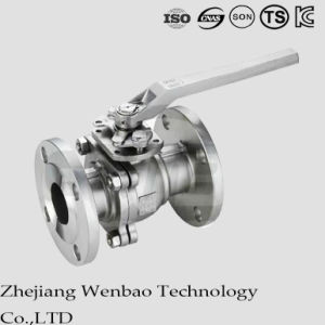 ANSI Carbon Steel Flange Manual Floating Ball Valve with Platform pictures & photos