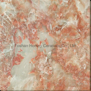 Red Jade Marble Full Polished Glazed Tiles From Foshan Homey pictures & photos