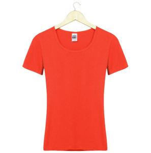 Cheap Customize Logo Personalized Promotional 100%Cotton Women Plain T Shirt pictures & photos
