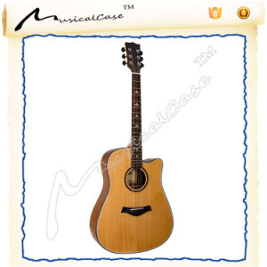 Natural Solid Top Acoustic Guitar Natural pictures & photos