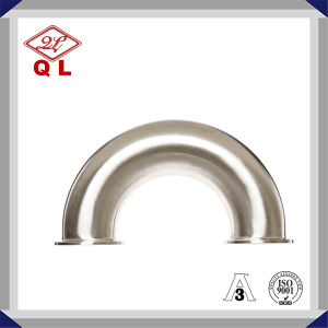 45 Degree Bend Sanitary Stainless Steel Pipe Fitting Clamped Elbow pictures & photos